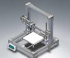铝型材框架3D打印设备